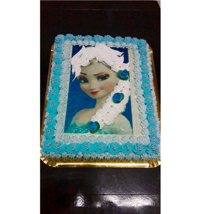 Pastel Frozen con Relieve